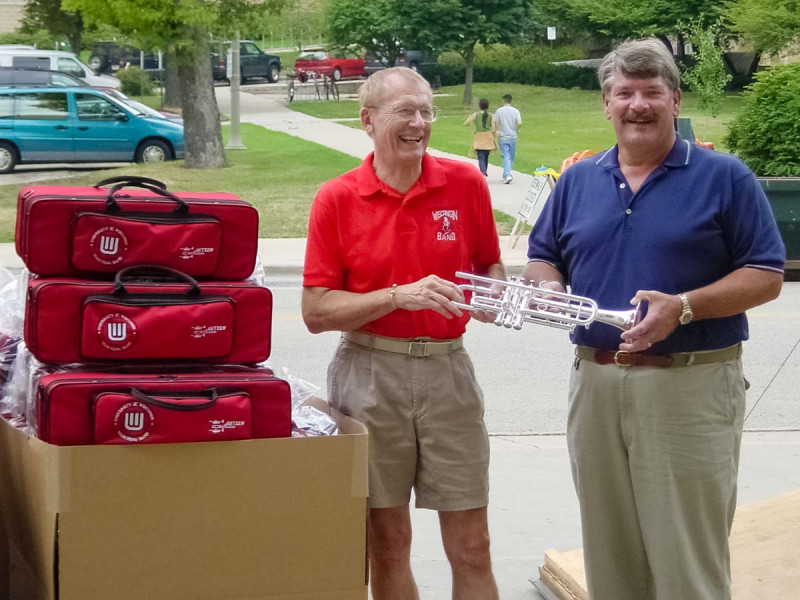 University of Wisconsin Takes Delivery of New Eterna Classic Trumpets